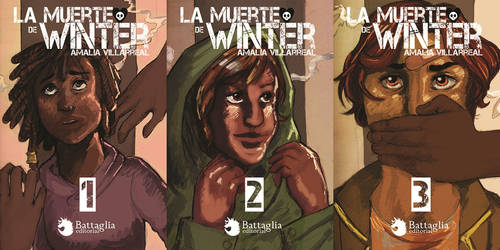 School work: Fake book covers for a trilogy