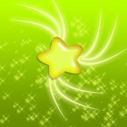 glossy glittering star