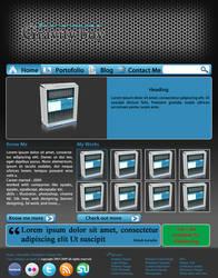 bluish web design layout