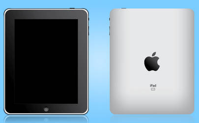 ipad front and back vector