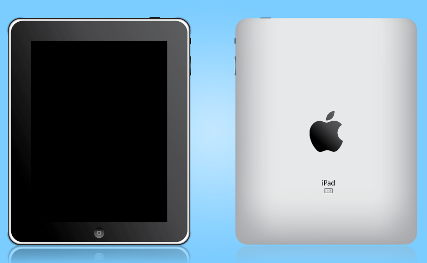 ipad front and back vector by hitesh19872419