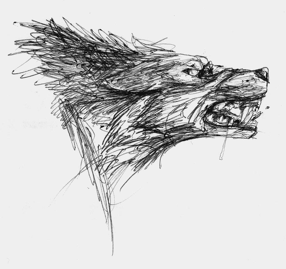 Angry Wolf by ThunderboltFire Angry Black Wolf Drawing