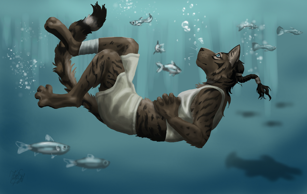 A private piece of sea by thunderboltfire on deviantart for Skyrim fish hatchery