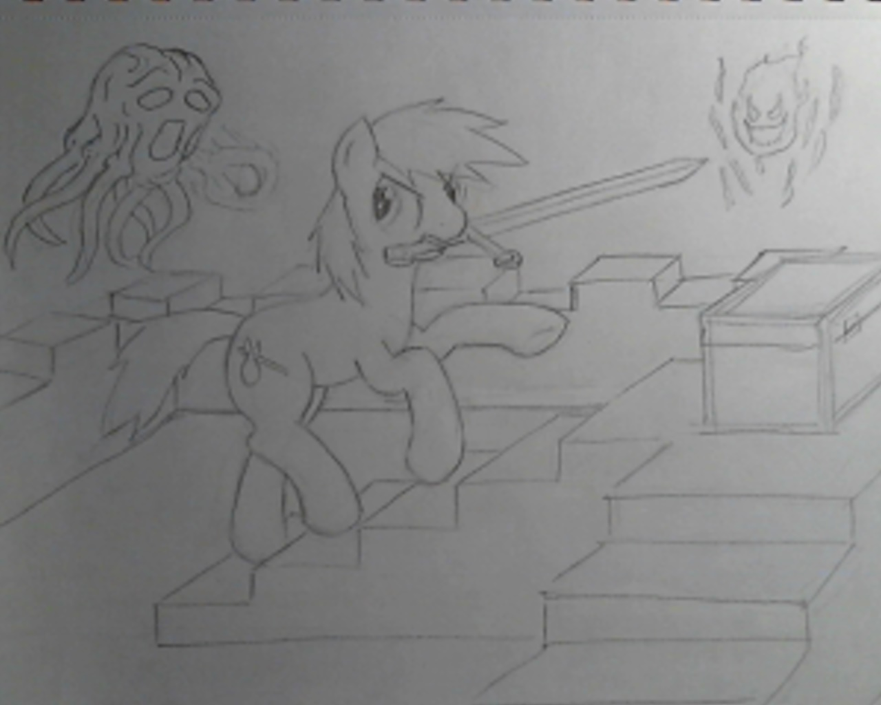 Bill the Pony conquers the Minecraft dungeon by Bill-the-Pony