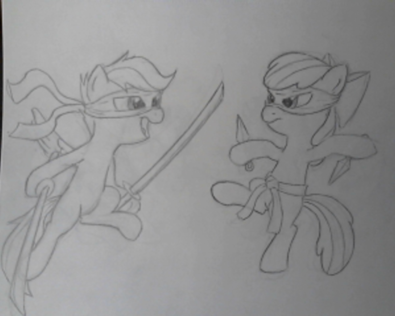 Cutie Mark Crusaders Ninja Assassins! by Bill-the-Pony