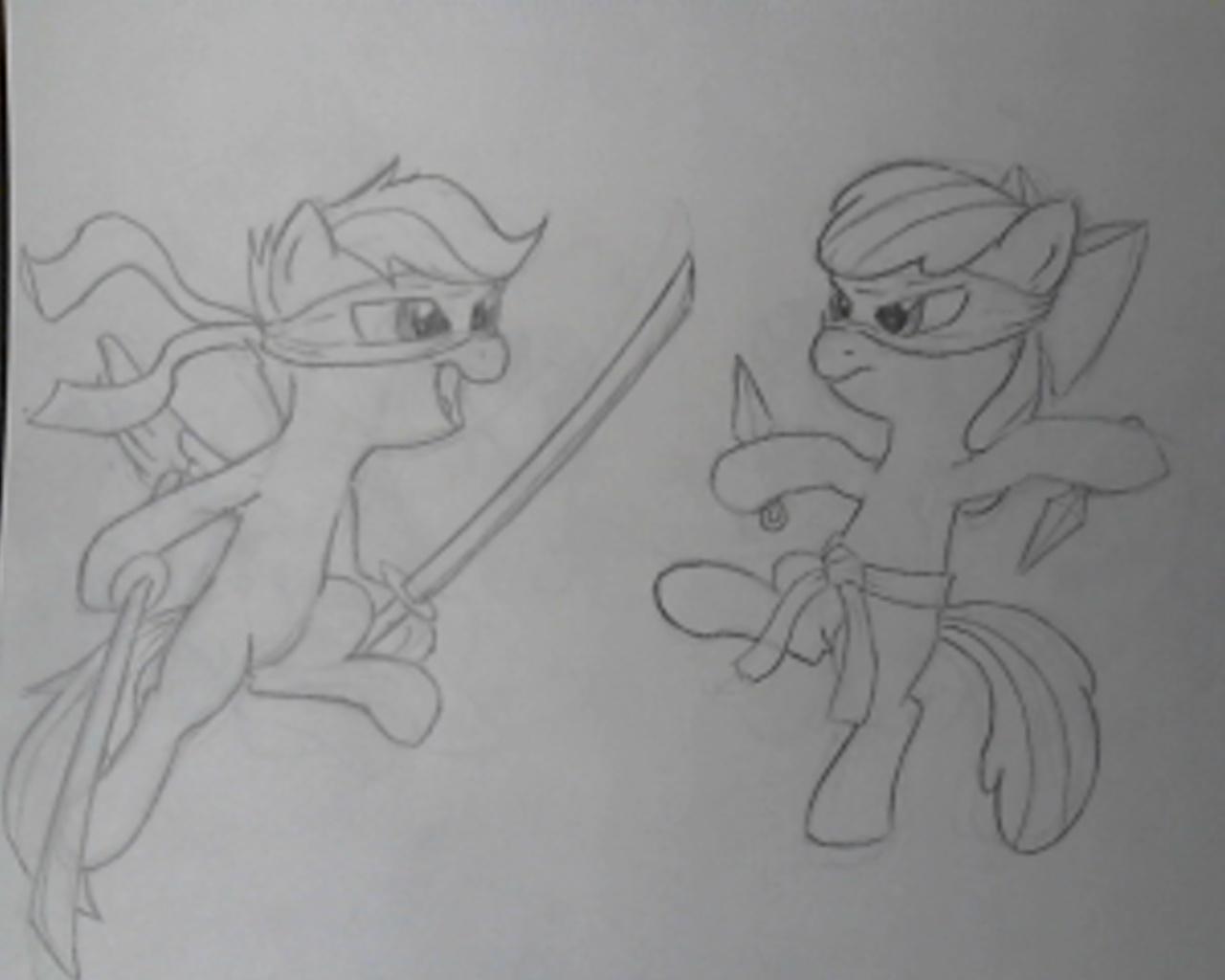 Cutie Mark Crusaders Ninja Assassins! by Bill-the-Pony