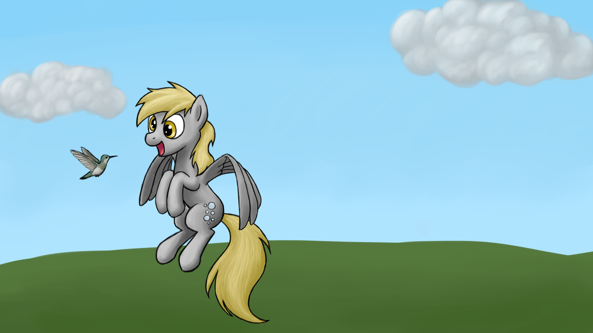 Derpy makes a new friend by Bill-the-Pony