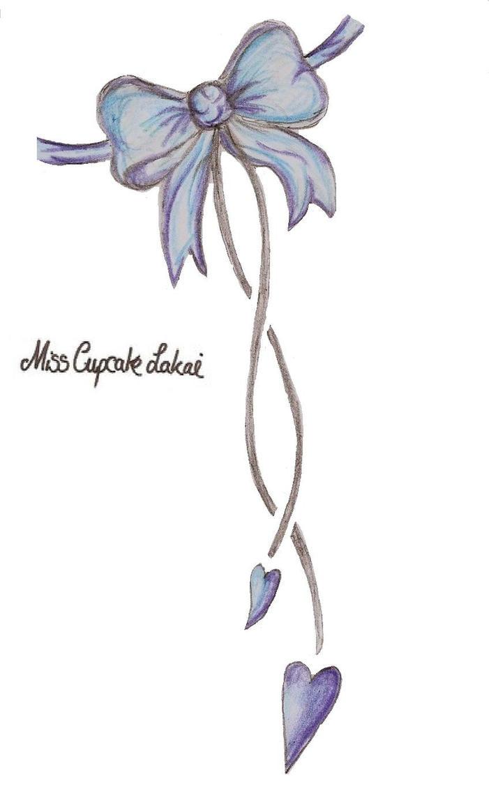blue bow tattoo design by cupcake lakai on deviantart. Black Bedroom Furniture Sets. Home Design Ideas