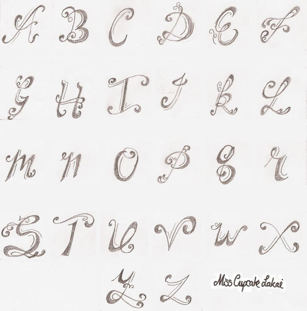 Tattooing Alphabet By Cupcake-Lakai On DeviantArt