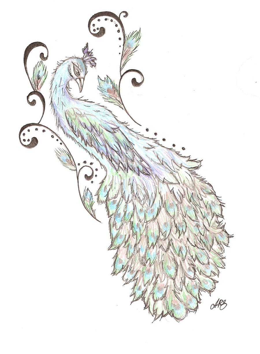 Peacock Back tattoo design by Cupcake-Lakai on DeviantArt