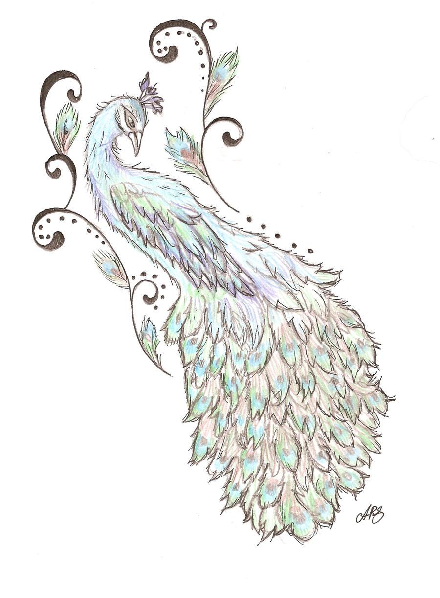 Peacock Back tattoo design by Cupcake-Lakai on DeviantArt
