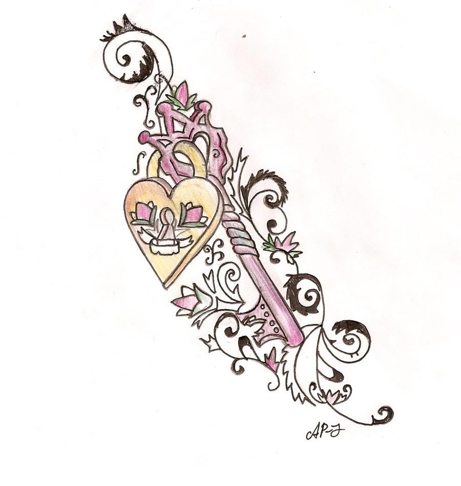Key Art Design : Key and lock tattoo design by cupcake lakai on deviantart