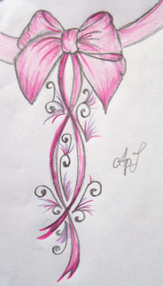 Pink Bow Tattoo ....New by Cupcake-Lakai