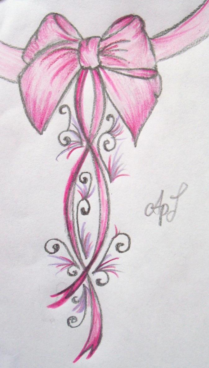 Pink Bow Tattoo ....New by Cupcake-Lakai
