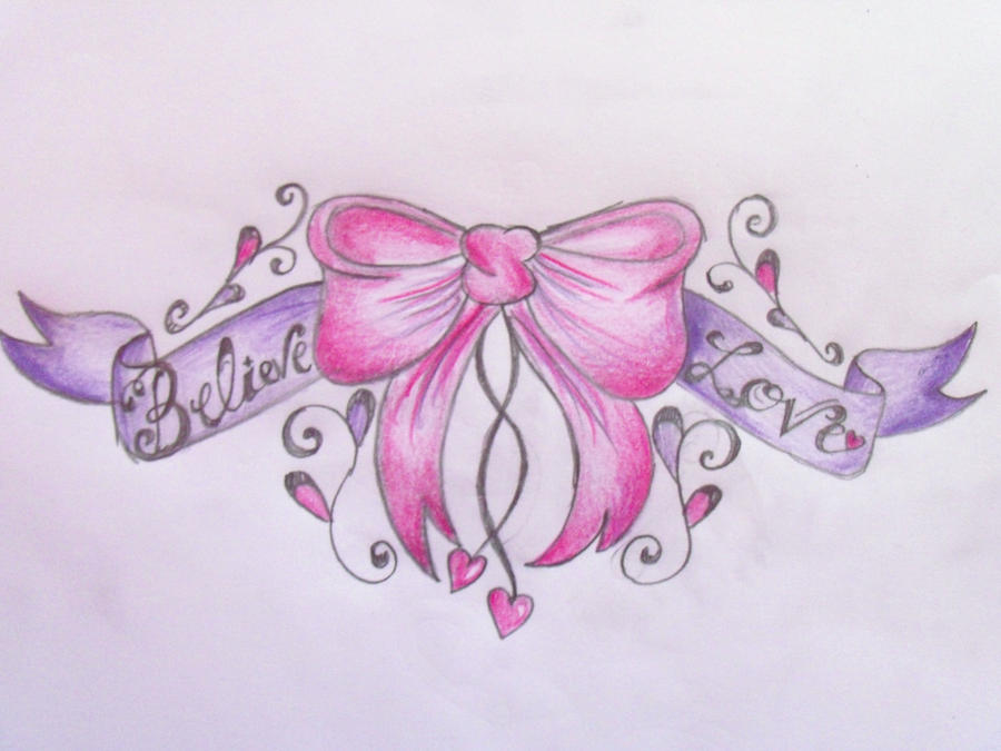 bow tattoo designs. Bow Lower Back Tattoo Design