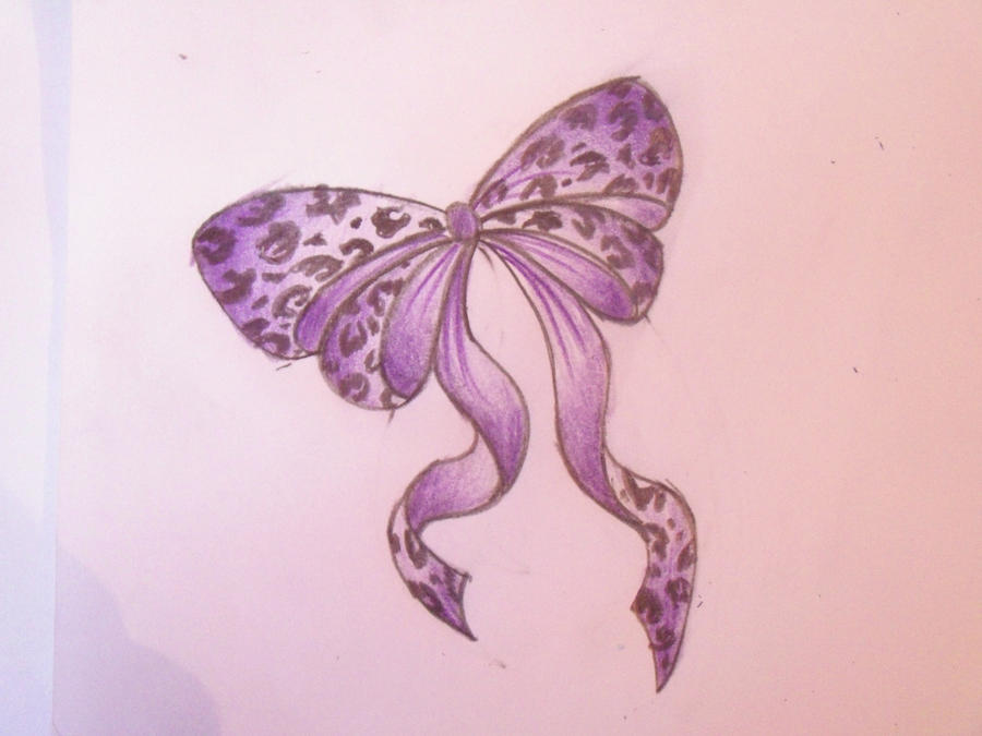 purple leopard print bow by cupcake lakai on deviantart rh deviantart com leopard print bow tattoo designs Flower Tattoo Leopard Print