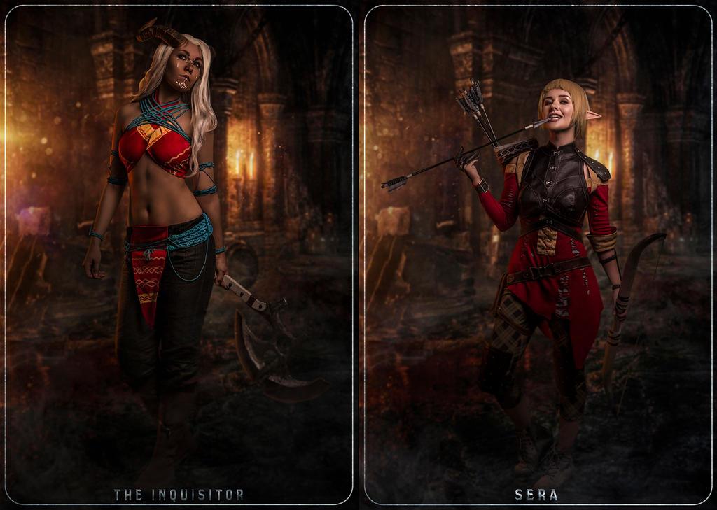 Inquisitor Adaar + Sera by NanaHikari