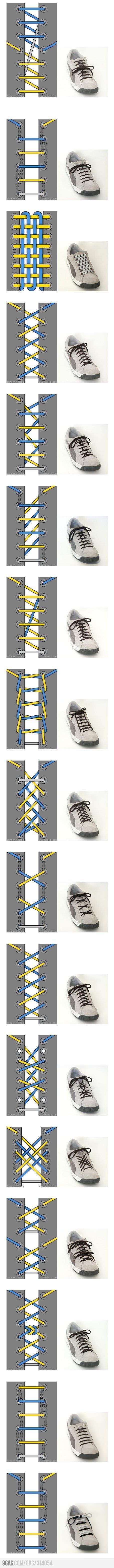 17 Cara Mengikat Tali Sepatu (Infographic)