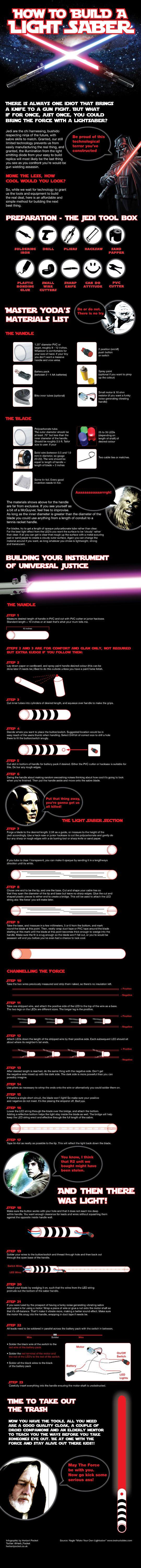 Cara-Cara Membuat Light Saber (Infographic)