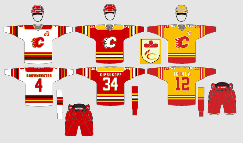 20d2b7d4d Here is my idea for jerseys with a yellow third loosely based of the  Calgary Cowboys stripping.