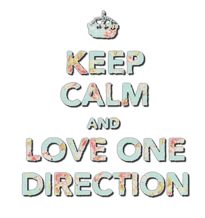 Keep Calm And Love One Direction PNG By Fireworksxo