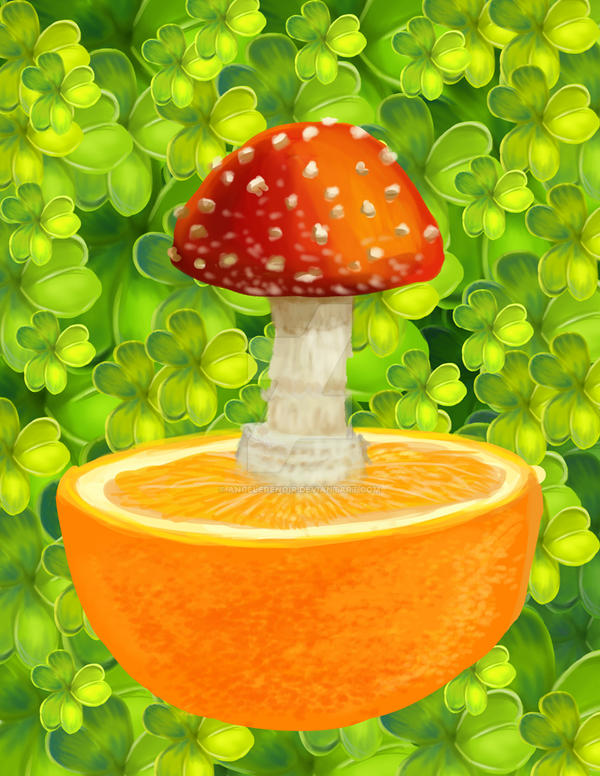 Orange Planet by AngelERenoir