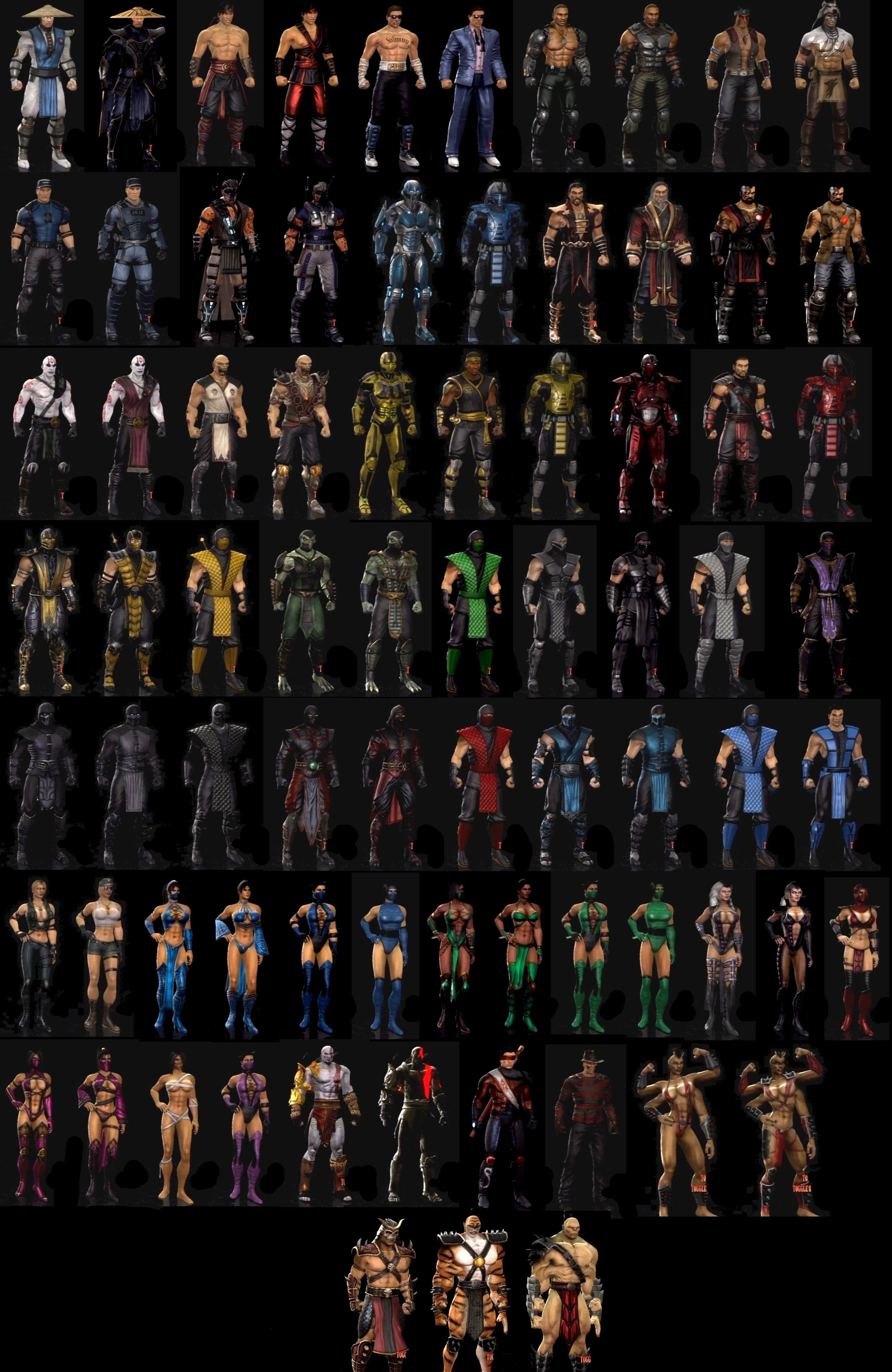 Mortal Kombat 2011 Characters by lechiffre17 on DeviantArt