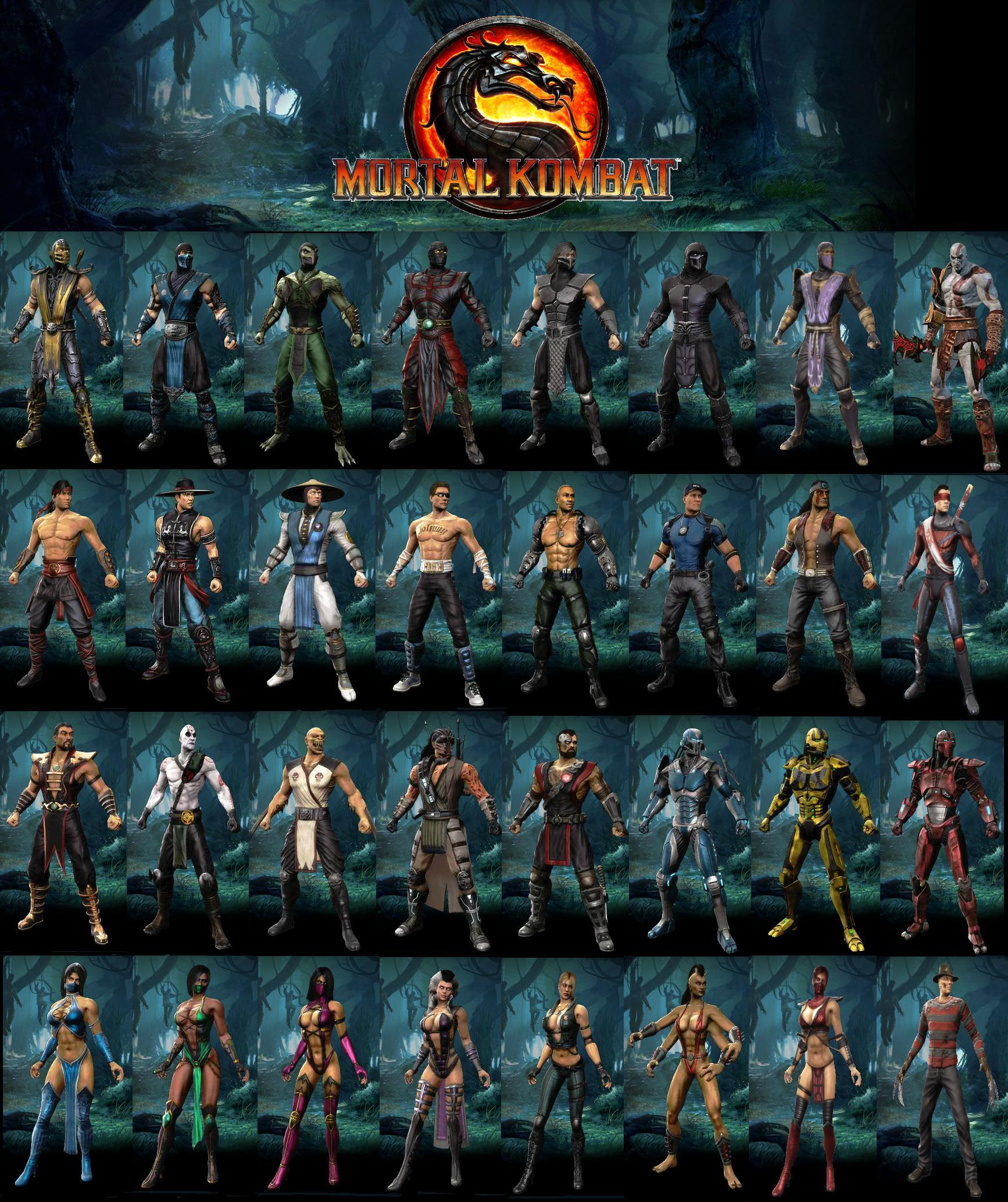 Mk11 Character List