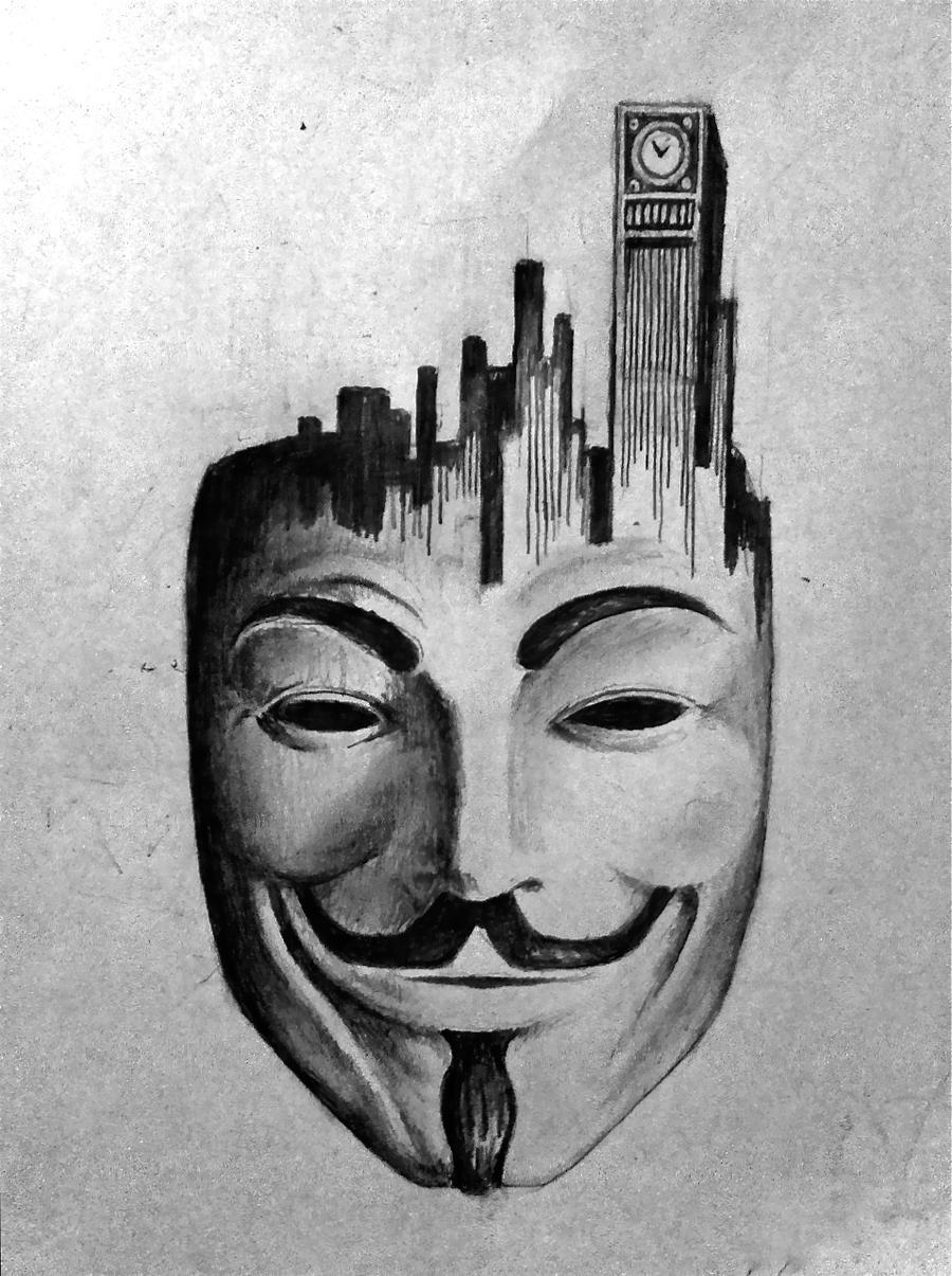 V For Vendetta Mask Drawing V for Vendetta 2 by th...