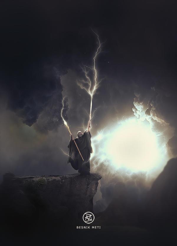 Lightning Wizzard - Elementary by BesnikMeti