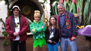 Disney Jan 2016 - My family with Tinker Bell