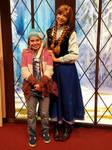 Disney Feb 2017 - Me with Princess Anna