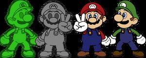 Super Smash Bros. (64) - Metal Mario and Gooigi