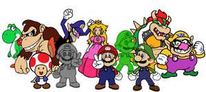 Super Smash Bros.(64) Styled Mario Characters