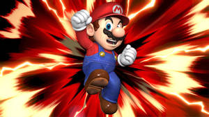 Super Smash Bros. Ultimate Mario Mural Pose