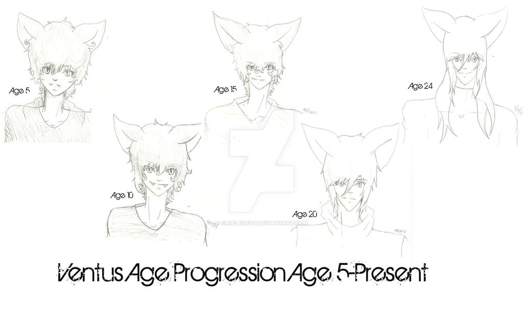 Ventus Age Progression Sketch