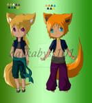 Fox Kemonomimi for Roseandherthorns
