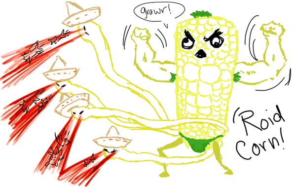 HELLO Mr. 'Roid Corn by Datura-Stramonium