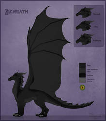 Zakariath reference sheet by Hydlunn