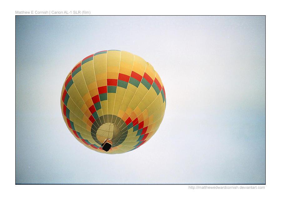 Hot Air Balloon - Yellow by matthewedwardcornish
