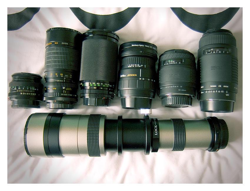 My film SLR Lenses by matthewedwardcornish
