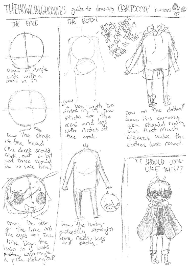 How I draw cartoony humans by thehowlinghoodie