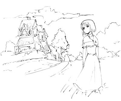 5 min sketch - ngantuk by johnfernando
