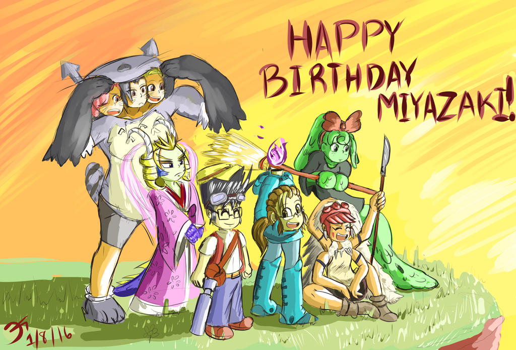 HAPPY BIRTHYDAY HAYAO MIYAZAKI!! IT'S GHIBLI TIME! by MinionKing