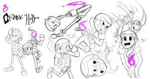 9/4/19 Crane doodles