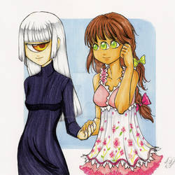 Two Girls Four Eyes
