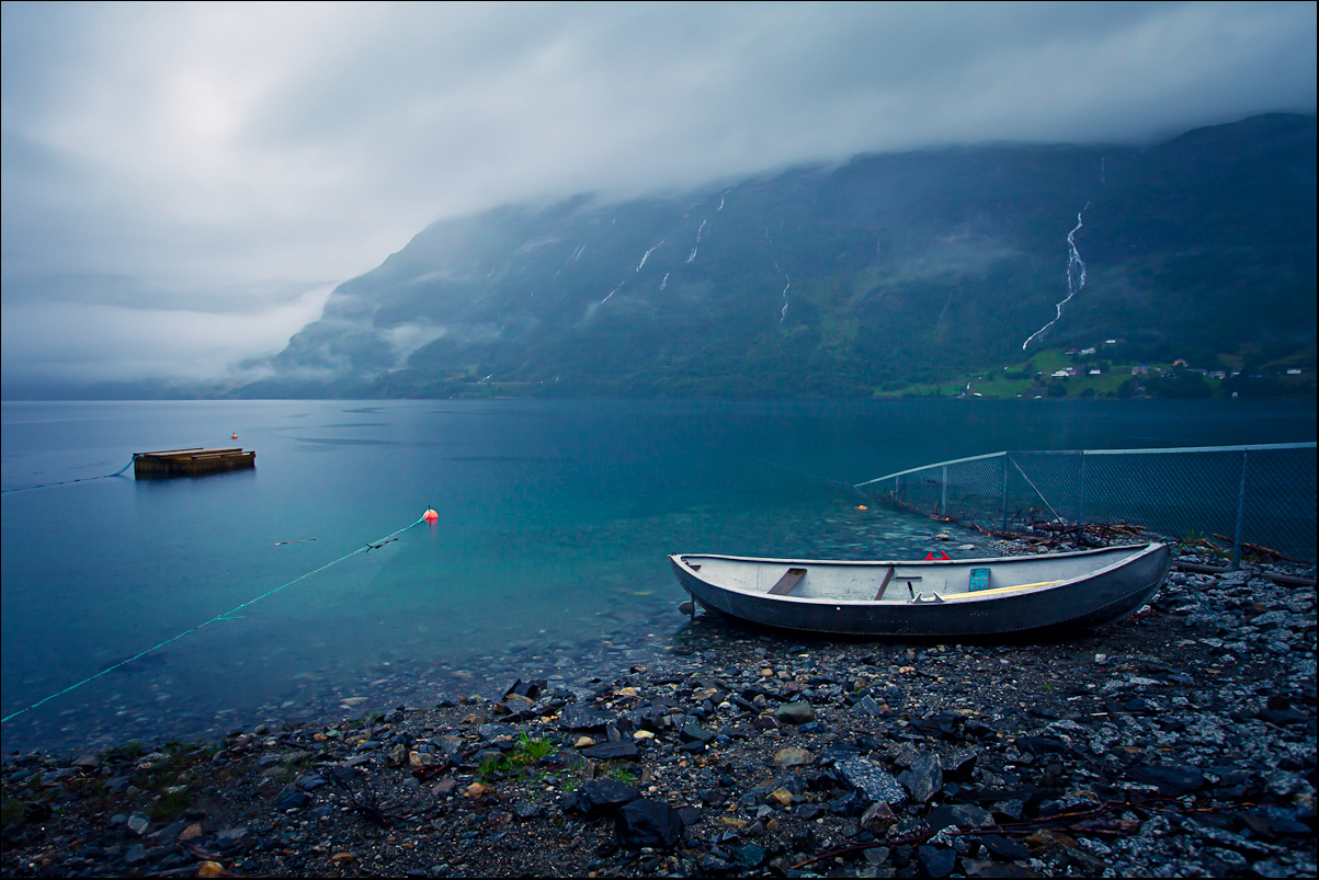Cold Norway Morning on Roldal Lake