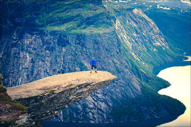 Closer To The Edge (Trolltunga, Norway) by JasperGrom