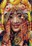 Headdress. Faces East. Tibet.