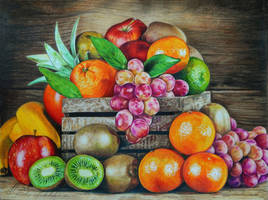 Fruit and berries by slightlymadart